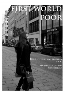 """Cover Fotobericht """"first world poor"""""""